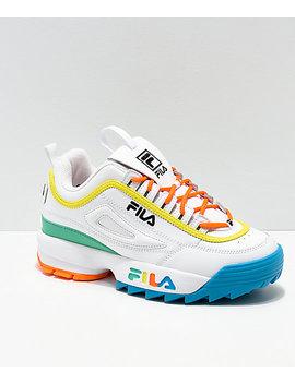 Fila Disruptor Multicolor & White Shoes by Fila