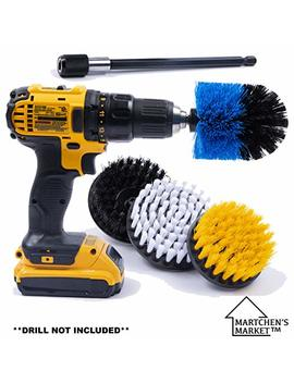 Drill Brush Attachment Scrubber Set With 6in Extender For A Cleaner Home. These Scrubbing Brushes Can Clean The Bathroom, Tub, Kitchen, Shower, Grout, Tile. **Drill Not Included** by Martchen's Market