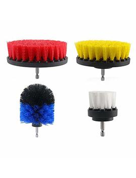 Drill Brush Set,Drill Brush Attachment 4 Piece Drill Scrub Brush For Bathroom, Ground, Shower, Tub, Sink, Floor, Tile, Corners And Kitchens by Lylyfan