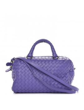 Bottega Veneta Nappa Intrecciato Mini Top Handle Bag Lavender by Bottega Veneta