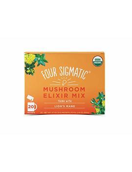 Four Sigmatic Lion's Mane Mushroom Elixir   Usda Organic Lions Mane Mushroom Powder  ... by Four Sigma Foods