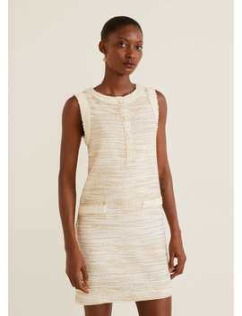 Φόρεμα Tweed τσέπες by Mango