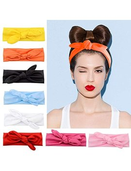 Tobatoba Women Headbands 8 Pack Turban Headwraps Hair Band Bows Accessories For Fashion And Sports, 8 Colors by Tobatoba