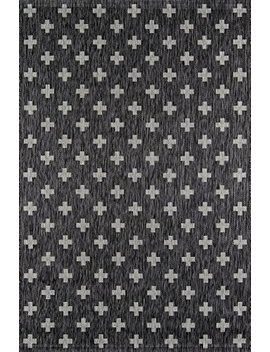 "Novogratz Villa Collection Umbria Indoor/Outdoor Area Rug, 2'0"" X 3'0"", Charcoal by Novogratz By Momeni"