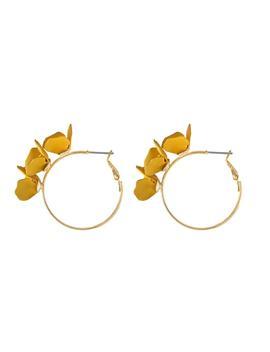 Meadow Hoop Yellow Earrings by Wanderlust + Co