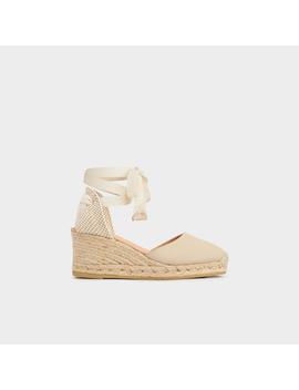 Maureene Sand Canvas Casual Sandals by L.K.Bennett