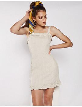 Tala Dress In Beige by Popcherry