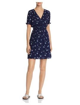 smocked-floral-fit-and-flare-dress---100%-exclusive by aqua