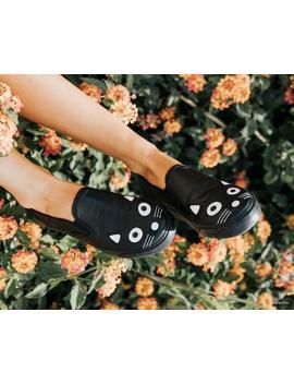 Black Kitty Slip On Sneaker by Tuk