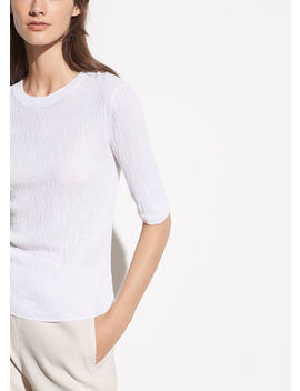 broomstick-pleat-elbow-sleeve-tee by vince