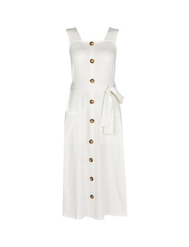 Ivory Belted Utility Midi Dress by Dorothy Perkins