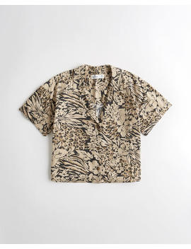 leopard-camp-shirt by hollister
