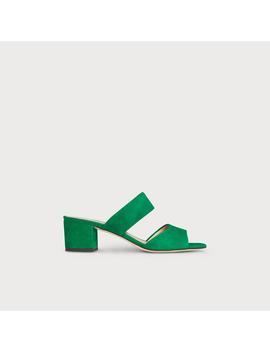 Elysia Green Suede Sandal by L.K.Bennett