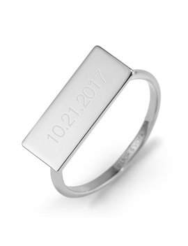 Date Wide Bar Ring by Brook And York