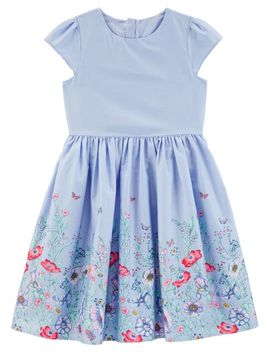 Floral Border Tea Party Dress by Oshkosh