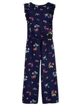 Floral Ruffle Sleeve Jumpsuit by Oshkosh