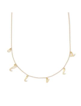 Nella Spaced Name Necklace by Brook And York