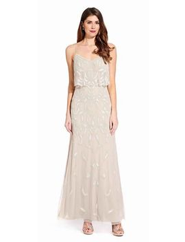 Beaded Dress With Popover Bodice by Adrianna Papell
