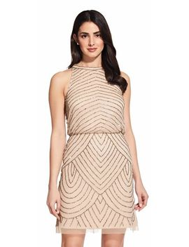 Art Deco Cocktail Dress With Halter Neck by Adrianna Papell