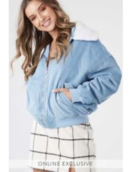 Cord Bomber Jacket by Ally Fashion