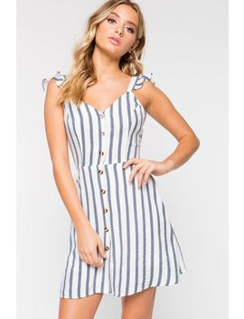 Perfect Illusion Striped Dress by A'gaci
