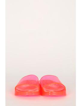 Transparent Jelly Slide Sandal by Urbanog