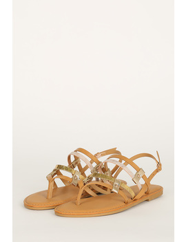 Strappy Thong Open Toe Flat Sandal by Urbanog