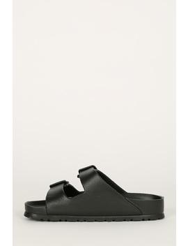 Double Buckle Lightweight Footbed Slide Sandal by Urbanog