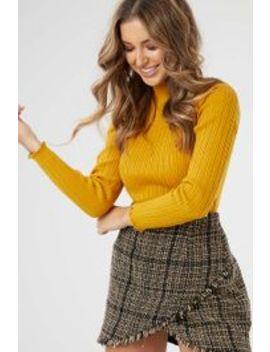 Frill Hem Rib Knit by Ally Fashion