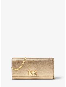 Mott Metallic Leather Chain Wallet by Michael Michael Kors