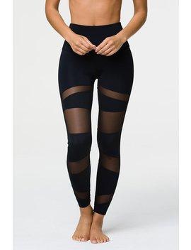 High Rise Bondage Legging   Black/Black Mesh by Onzie