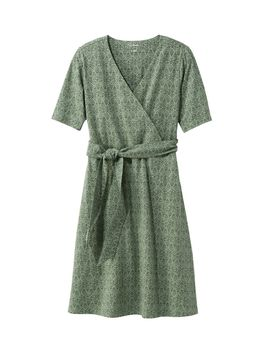 Cotton/Tencel Dress, Elbow Sleeve Print by L.L.Bean