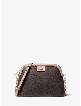 Large Logo Dome Crossbody Bag by Michael Michael Kors