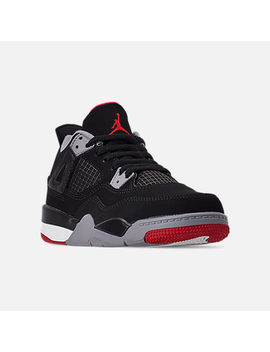 Little Kids' Air Jordan Retro 4 Basketball Shoes by Nike