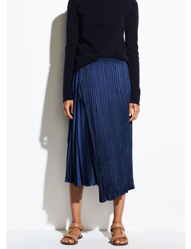Mixed Pleat Skirt by Vince