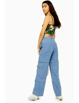 Jean Large Indigo Style Combat by Topshop