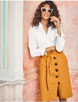 Leonora Skirt   Yellow Ochre by Boden