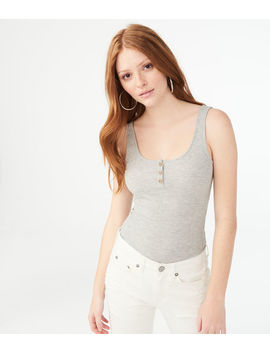 Seriously Soft Henley Bodycon Tank*** by Aeropostale