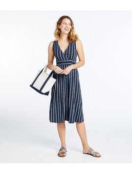 Summer Knit Dress, Sleeveless Print by L.L.Bean