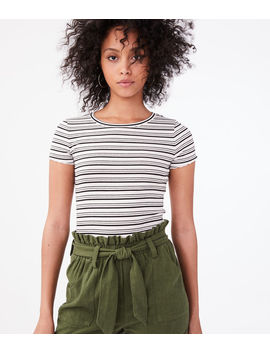 Striped Shrunken Tee by Aeropostale