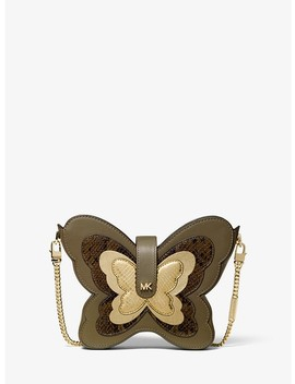 Butterfly Leather Crossbody Bag by Michael Michael Kors
