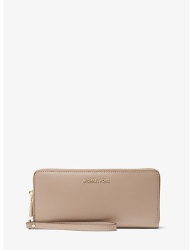 Crossgrain Leather Continental Wristlet by Michael Michael Kors