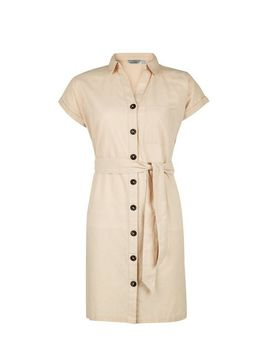 Petite Stone Shirt Dress With Linen by Dorothy Perkins