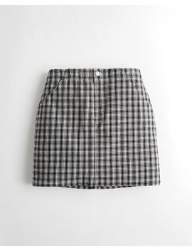 ultra-high-rise-plaid-skirt by hollister