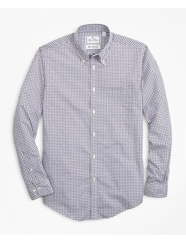 Luxury Collection Milano Slim Fit Sport Shirt, Button Down Collar Paisley Print by Brooks Brothers