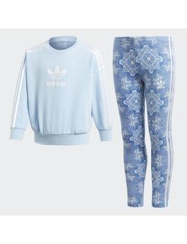 Culture Clash Crewneck Sweatshirt Set by Adidas