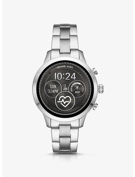Runway Silver Tone Smartwatch by Michael Kors Access