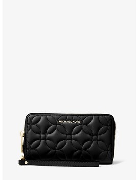 Large Quilted Leather Smartphone Wristlet by Michael Michael Kors