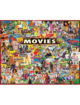 The Movies 1000 Piece Puzzle by White Mountain Puzzles
