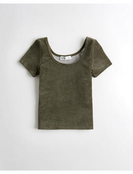 Scoop Corduroy T Shirt by Hollister